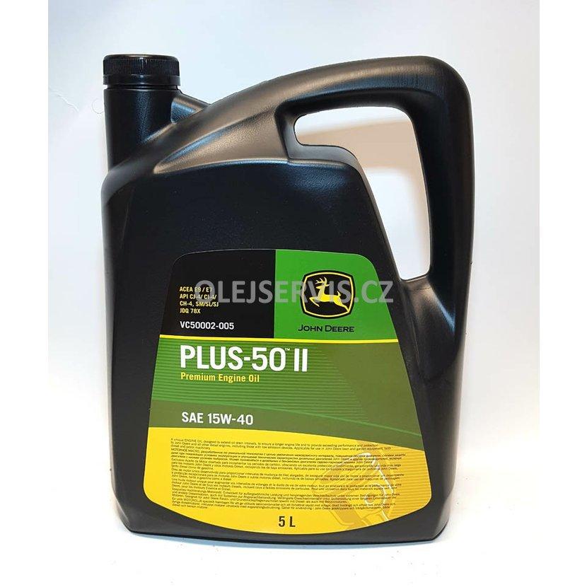 John Deere motorový olej 15W40 Plus 50 II 5lt